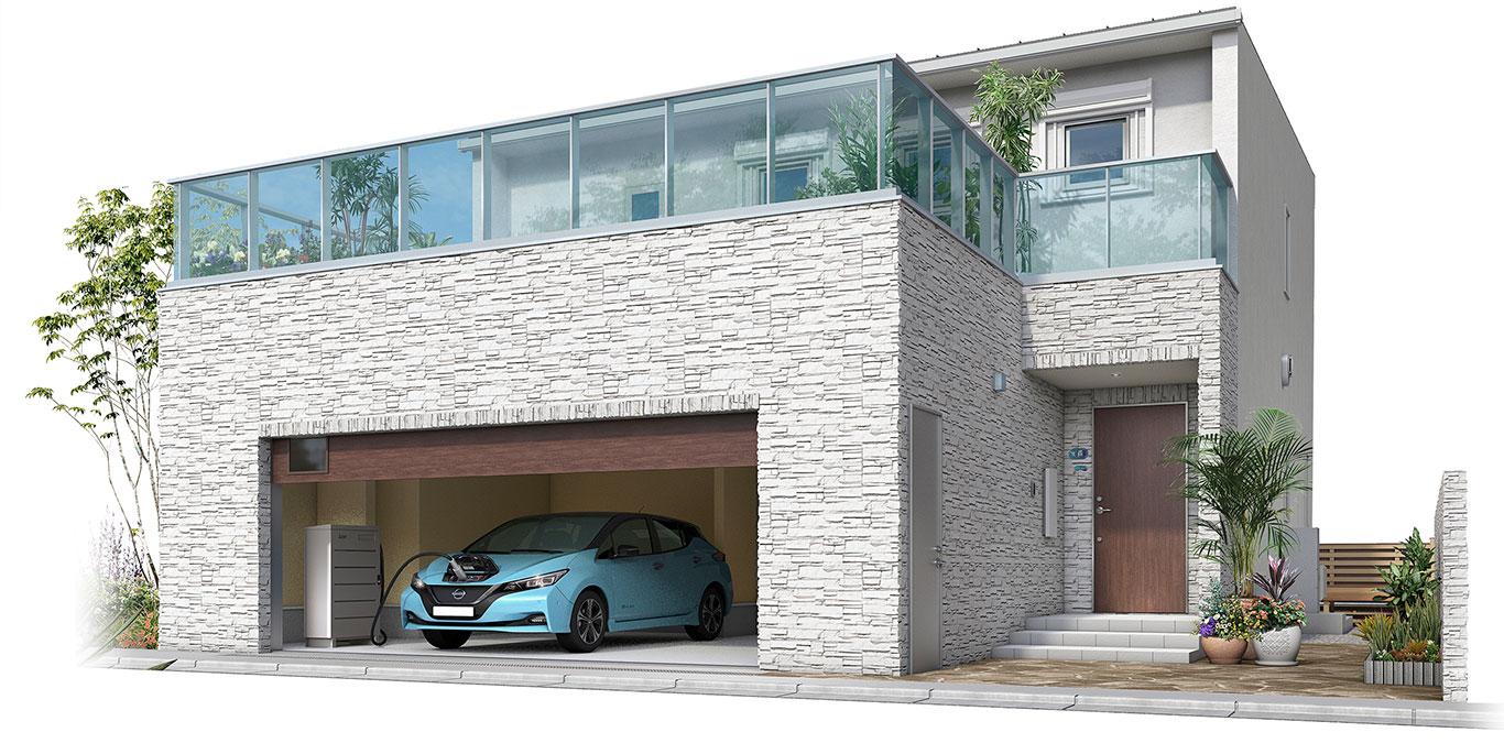 奈良の電気自動車対応住宅